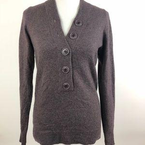 J. Crew Medium Popover Sweater Button Cashmere